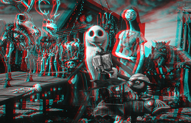 put on your 3d glasses now - Nightmare Before Christmas 3d